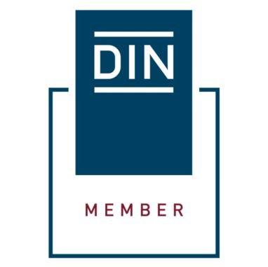 DIN Member zentriert